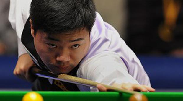 Ding Junhui, pictured, made a perfect start to his last-eight clash with Mark Allen