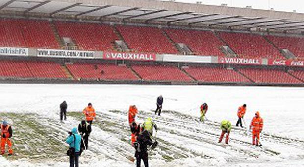 The clash at Windsor Park has been called off for a scond time