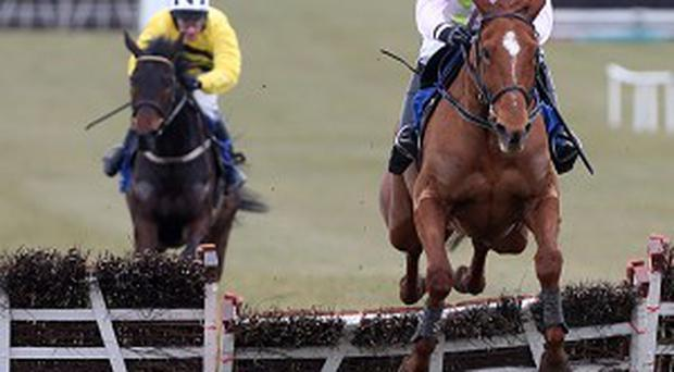 It's no contest as Annie Power is clear at the last