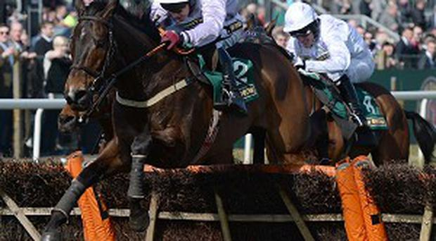 Solwhit and Paul Carberry jump the last in front