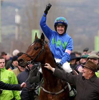 Hurricane Fly, ridden by Ruby Walsh, was victorious at Punchestown