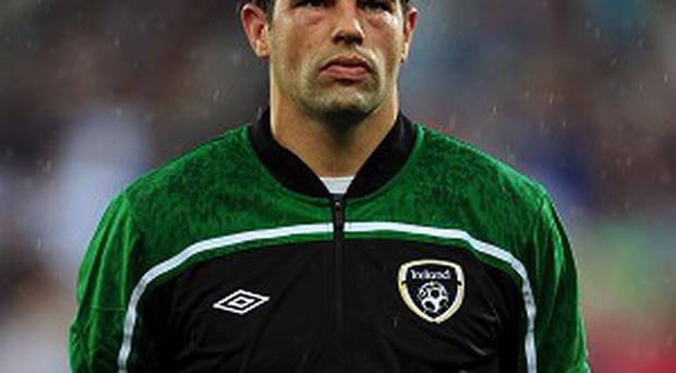 David Forde faces a fitness battle ahead of the game against the Faroe Islands