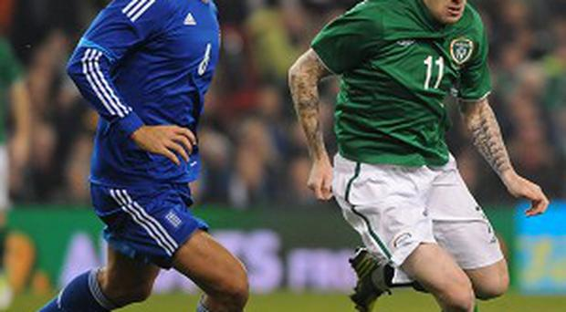 James McClean, right, impressed for Ireland against Georgia on Sunday