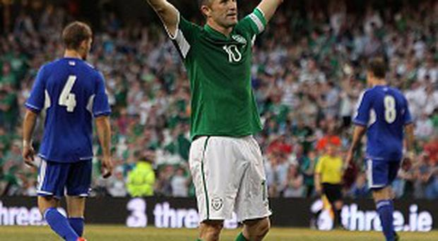 Robbie Keane made his 126th senior international appearance against the Faroes