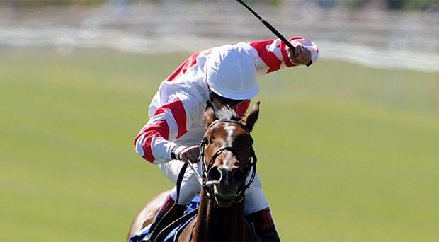 Jockey Johnny Murtagh rides Levanto to victory in The TRM Invest In Calphormin Handicap