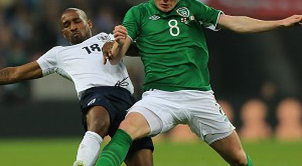 James McCarthy, right, and Jeff Hendrick found themselves thrust into battle against Spain
