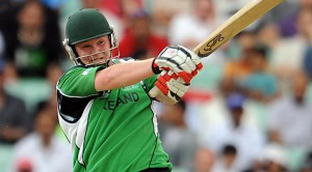 Paul Stirling scored 115 in Ireland's first innings