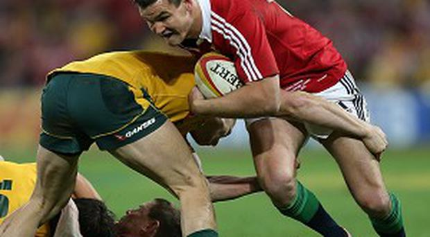 Jonathan Sexton, right, admitted the Lions were lucky to beat Australia