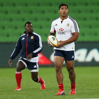 Manu Tuilagi, right, is set to return to action against the Melbourne Rebels