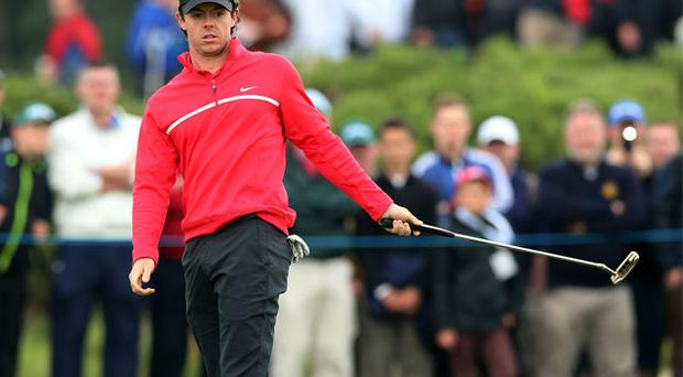 Rory McIlroy during day one of the Irish Open at Carlton House Golf Club, Co. Kildare