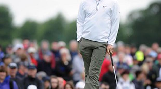 Rory McIlroy endured another frustrating day as he missed the cut in the Irish Open