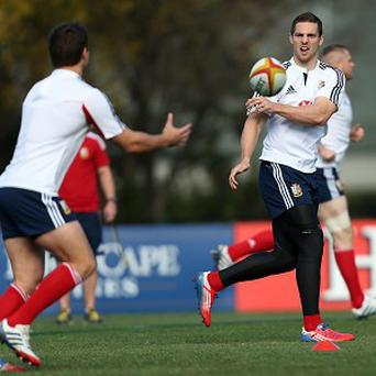 George North, right, expects a tough match against the Wallabies on Saturday