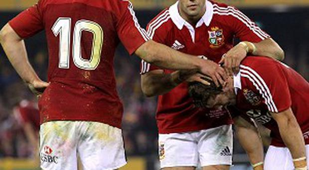 Jonathan Sexton, left, does not lay any blame at Leigh Halfpenny's door