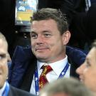 Brian O'Driscoll cheered the Lions on to victory on Saturday from the stands