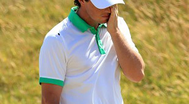 Rory McIlroy made a disappointing start at the Open