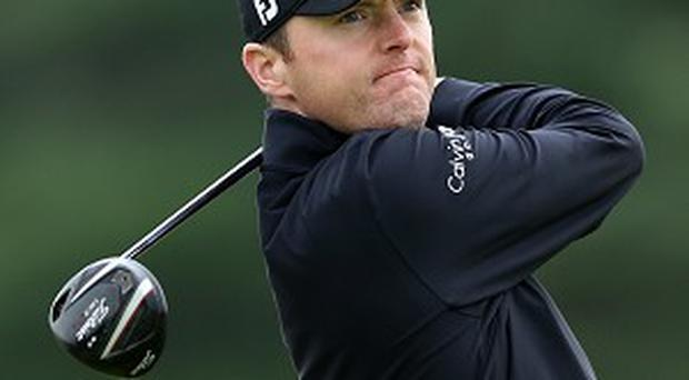 Michael Hoey has a five-shot lead going into the final round on Sunday