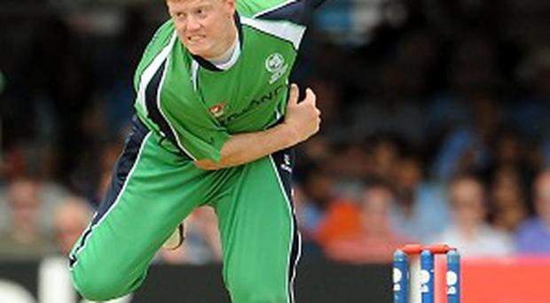 Kevin O'Brien claimed two wickets for Ireland