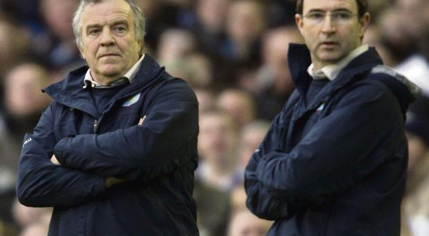 John Robertson (left) has worked well as an assistant to Martin O'Neill in the past, but has been laid low with health problems