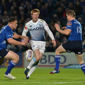 Brian O'Driscoll, right, helped Leinster to victory over Cardiff