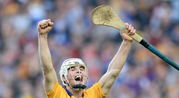 Patrick O'Connor, Clare, celebrates at the final whistle after their All-Ireland final win - Mike Deegan is baffled by his exclusion from the All Stars list