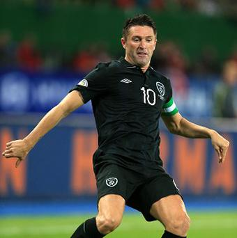Robbie Keane is bothered by an ankle problem