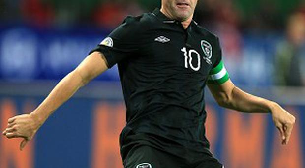 Robbie Keane could miss Friday's showdown with Germany