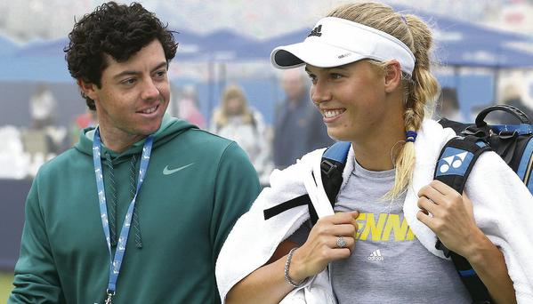 Rory McIlroy is rumoured to have split from girlfriend Caroline Wozniacki
