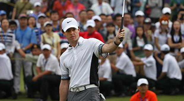 Rory McIlroy, pictured, defeated Tiger Woods in an exhibition at Mission Hills (AP)