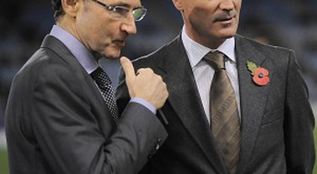 Martin O'Neill has labelled Roy Keane an 'iconic figure' (AP)