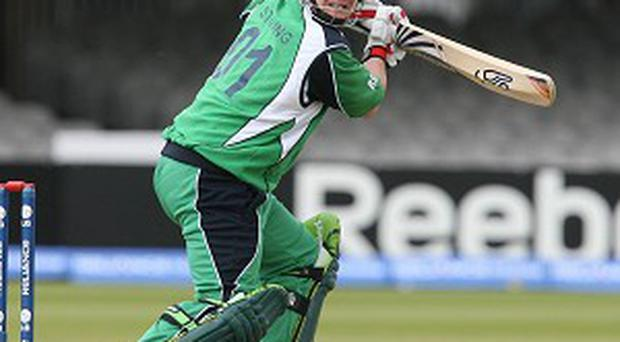 Paul Stirling starred as Ireland beat Namibia in their opening World Twenty20 qualifier.