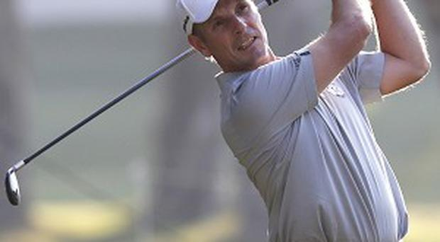 David Higgins holds the lead after day one in Hong Kong (AP)