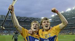 Podge Collins and Shane O'Donnell celebrate Clare's electrifying All-Ireland win