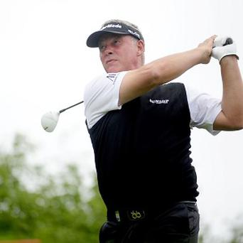 Former Open champion Darren Clarke is two shots off the lead after the first round of the Volvo Golf Champions in Durban.