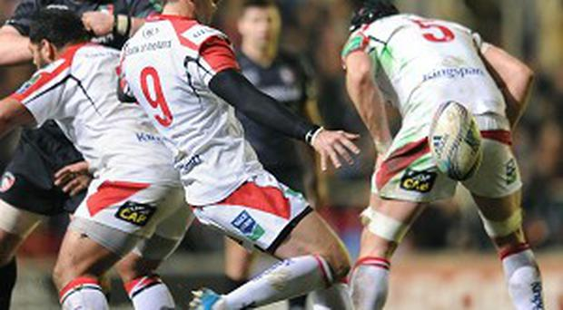 Ruan Pienaar scored all of Ulster's points in their win at Leicester