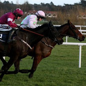 Djakadam and Paul Townend, right, claimed the Boylesports Killiney Novice Chase by four lengths