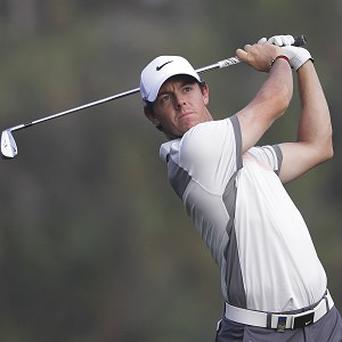 Rory McIlroy holds a one-shot lead at the Omega Dubai Desert Classic (AP)