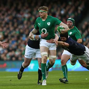 Jamie Heaslip was immense for Ireland and went over for one of their tries