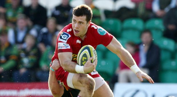 Gareth Davies, pictured, and John Barclay scored a try apiece for Scarlets
