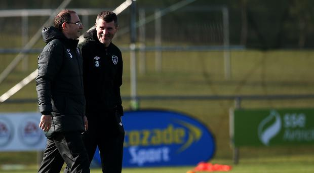 Roy Keane, right, says he is enjoying working with Martin O'Neill, left