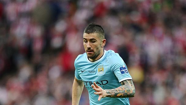 Aleksandar Kolarov had been a regular for Manchester City this season
