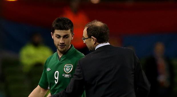 Martin O'Neill, right, has given his backing to Shane Long