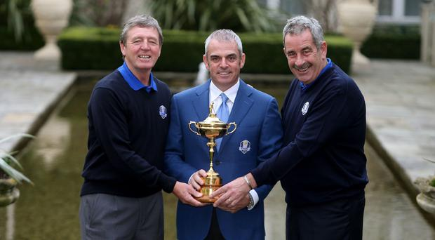 Des Smyth, left, has been named as one of the first two vice-captains for Europe's Ryder Cup team