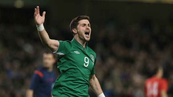 Shane Long was on target for Ireland against Serbia