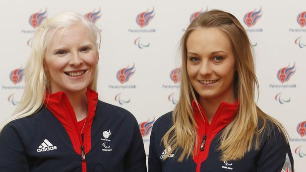 Kelly Gallagher (left) and guide Charlotte Evans (right) won Great Britain's first ever gold medal at the Winter Paralympics
