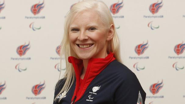 Kelly Gallagher, pictured, and guide Charlotte Evans saw their hopes ended after the slalom