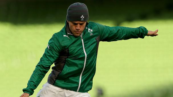 Ireland's Ian Madigan during the Captain's Run at the Aviva Stadium, Dublin, Ireland.