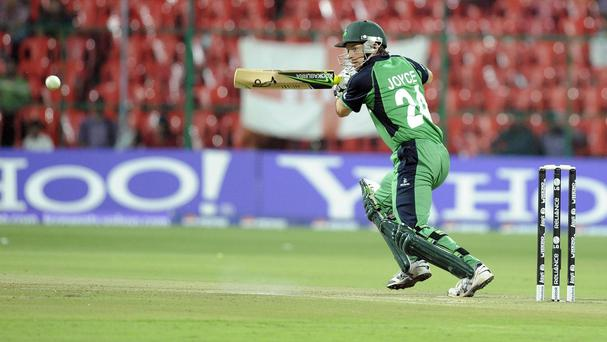 Ed Joyce helped Ireland to victory over the UAE