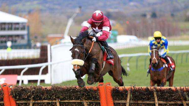 Bog Warrior won the Webster Cup Chase by three lengths
