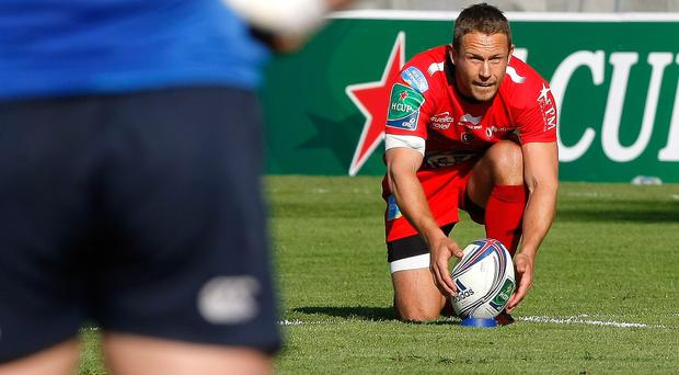 Jonny Wilkinson had to go off with a hamstring injury (AP)