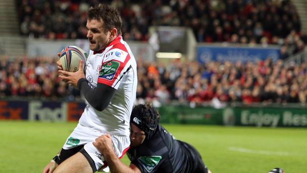 Ulster full-back Jared Payne, left, has been banned for two weeks